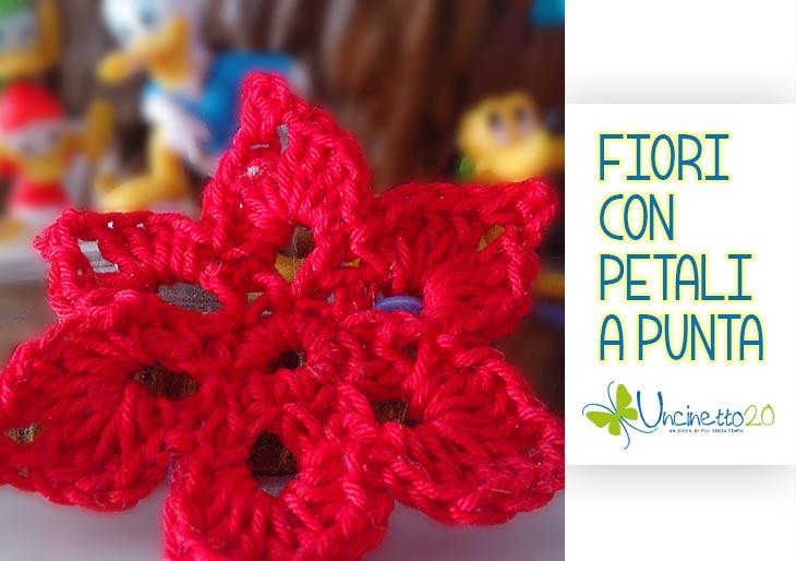 Fiore rosso a 6 punte - Uncinetto 2.0