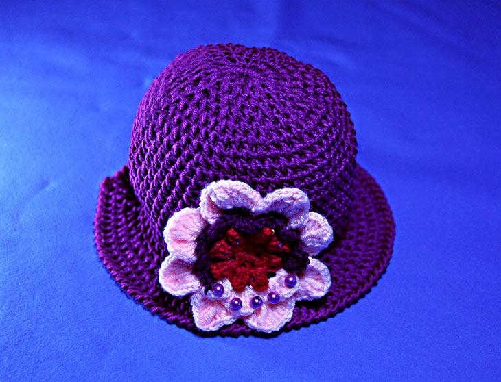 Tutorial Cappello Viola A Uncinetto 2 Parte