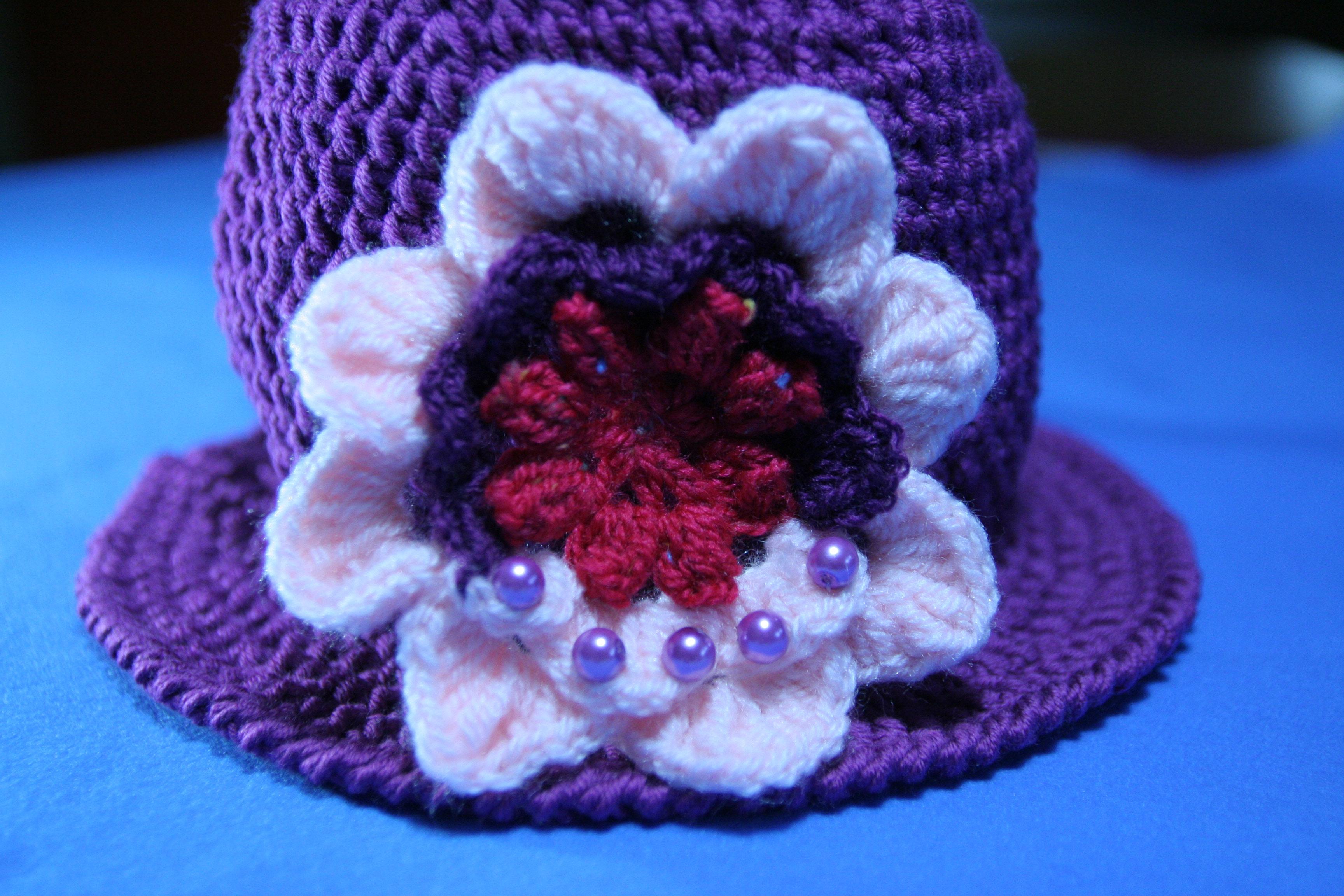 Fiore A Uncinetto 3d Decorazione Per Un Cappello